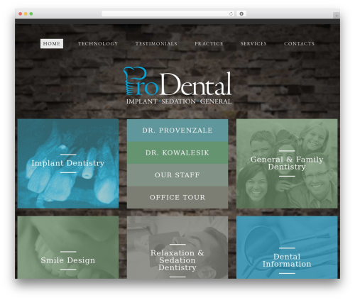 cherry WordPress theme - prodental.net