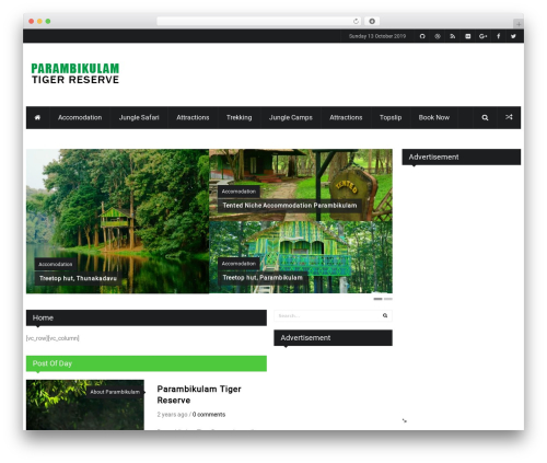 iPress landscaping WordPress theme - parambikulamtourism.com