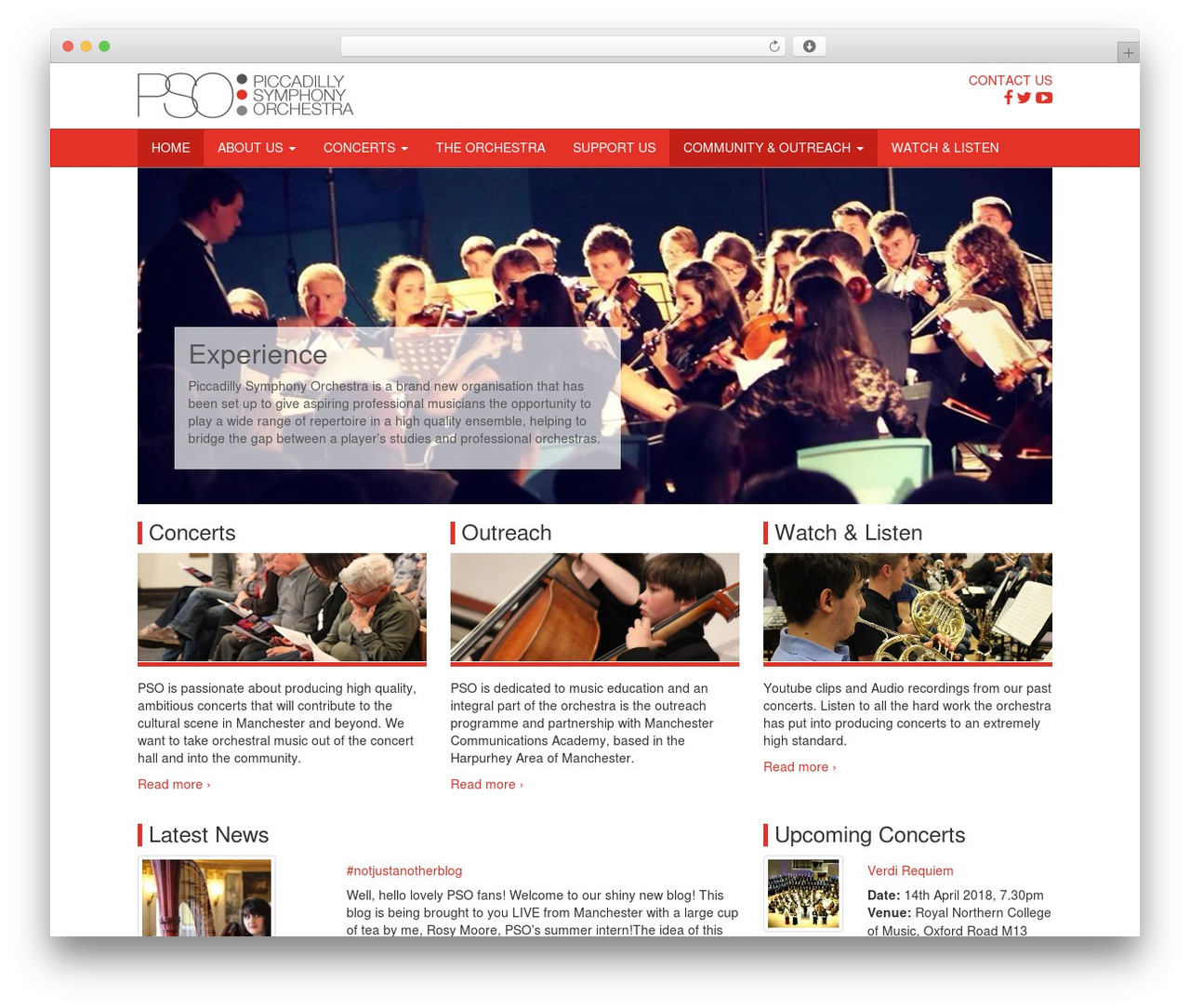 PSO best WordPress theme by the web sols team - piccadillysymphony co uk