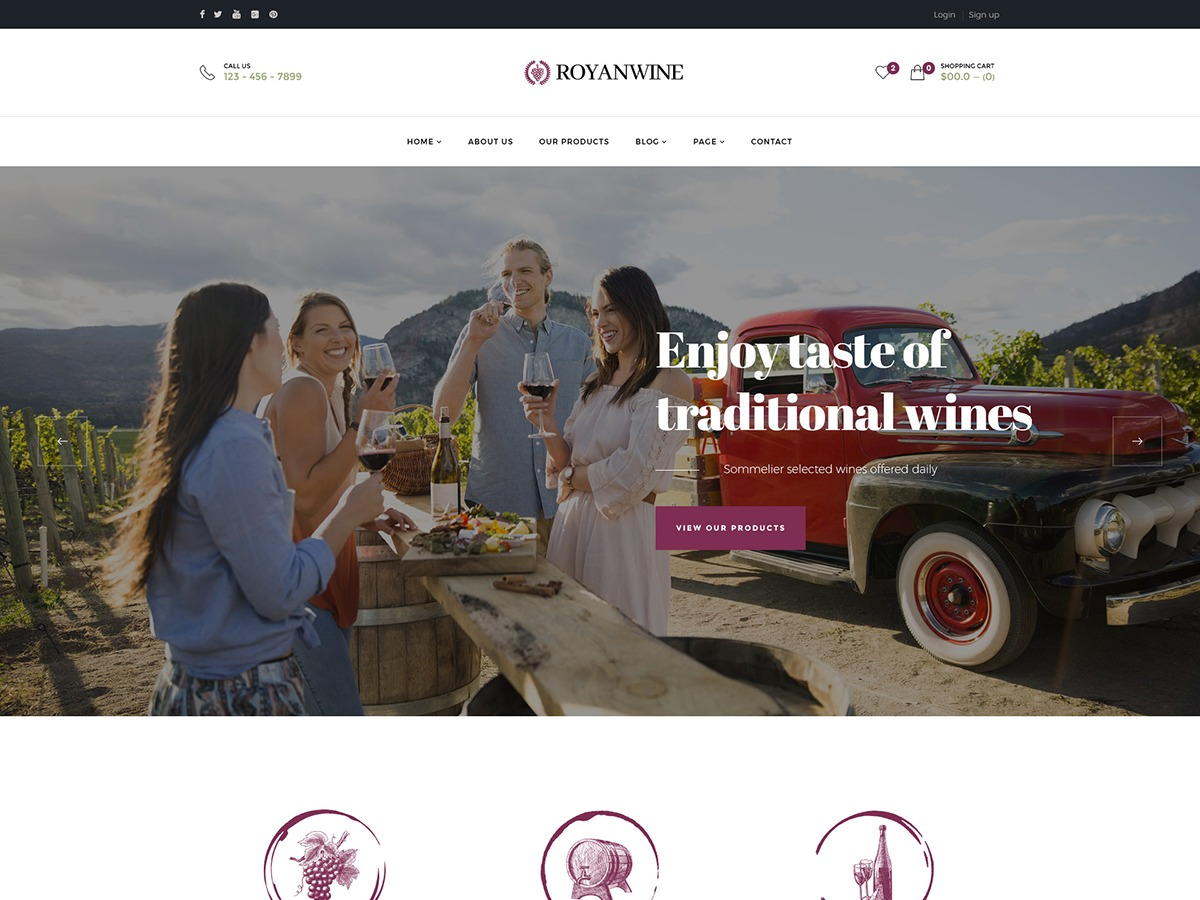 royanwine premium WordPress theme