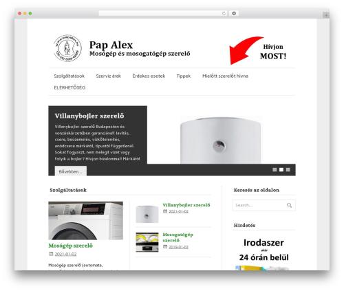 Theme WordPress zeeFlow - papalex.hu
