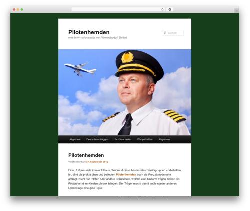 Twenty Eleven free WP theme - pilotenhemd.net