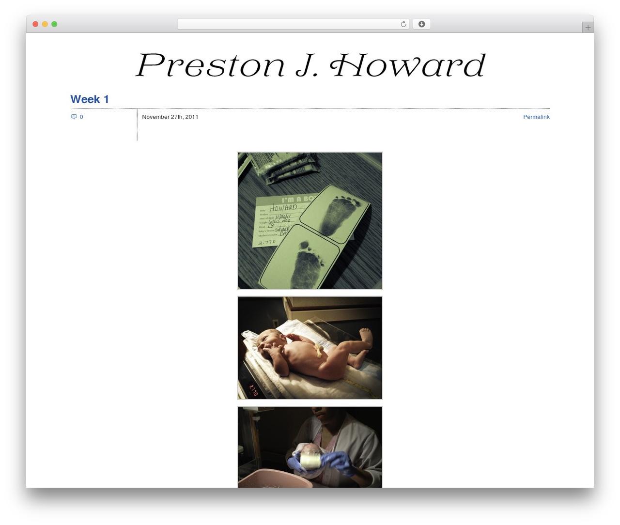 Zack 990 theme WordPress - prestonjhoward.com