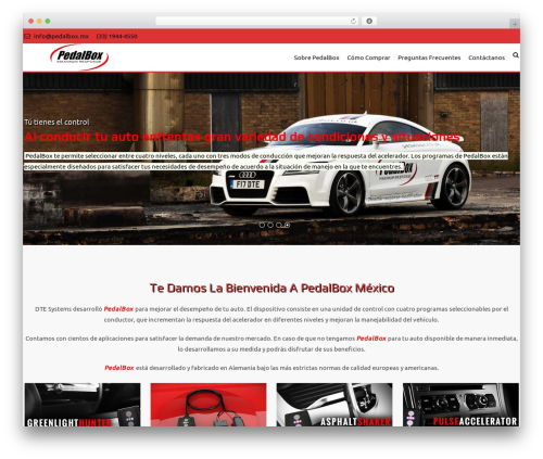 AccessPress Staple Pro WordPress theme design - pedalbox.mx