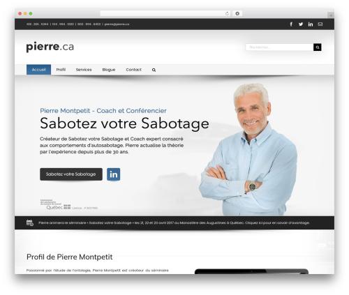 Avada theme WordPress - pierre.ca