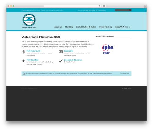 Clearly Modern WordPress theme - plumbtec2000.com