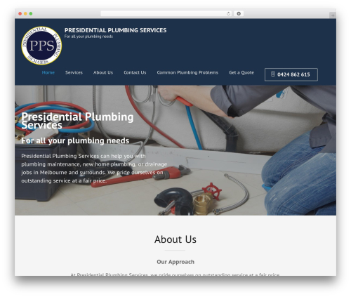 Construction Landing Page WordPress landing page - presidentialplumbingservices.com.au