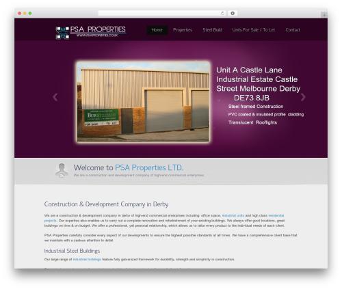 Envision Child company WordPress theme - psaproperties.co.uk