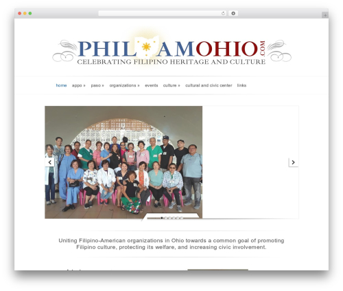 Evolution WordPress website template - philamohio.com