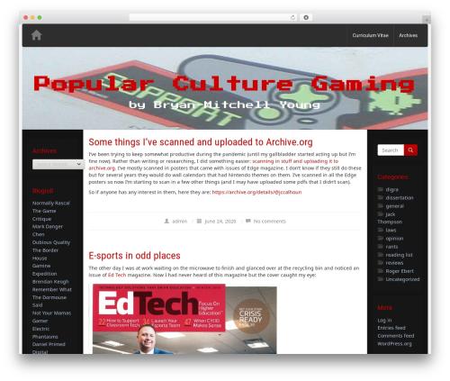 Nabia WordPress theme download - popularculturegaming.com