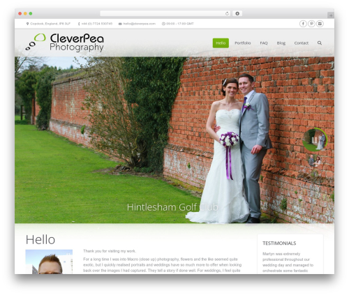 The7 WordPress wedding theme - photography.cleverpea.com