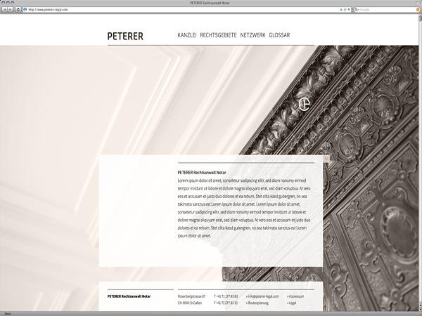 WordPress template Peterer