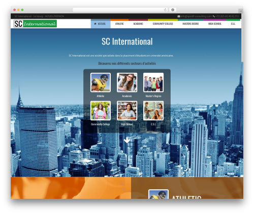 WordPress template Subway - partir-etudier-aux-usa.com