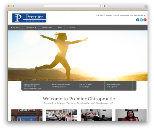 WordPress theme Health-Center-Pro - premierchiropracticnc.com