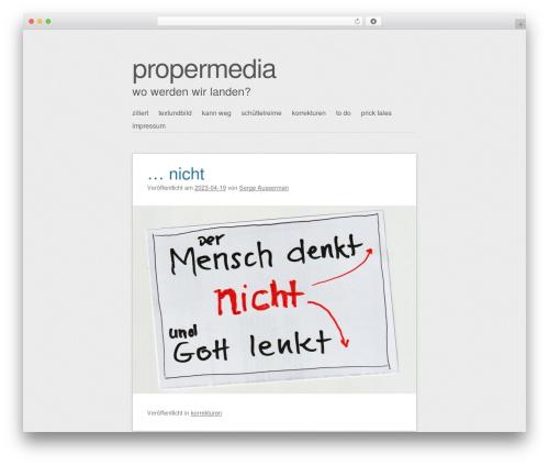 WordPress theme SemPress - propermedia.de