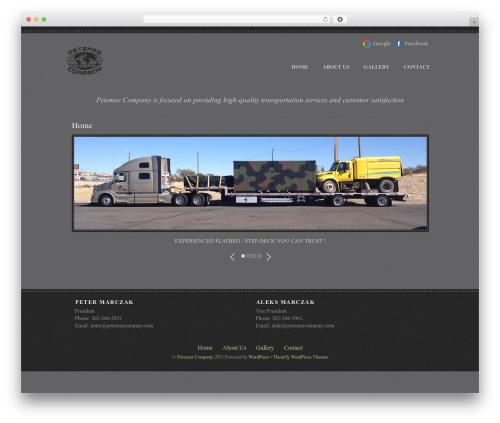 WordPress theme Themify Photobox - petemarcompany.com