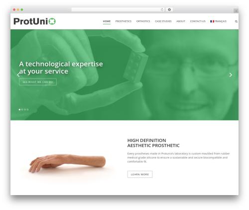 WordPress website template Pluto - protunix.com