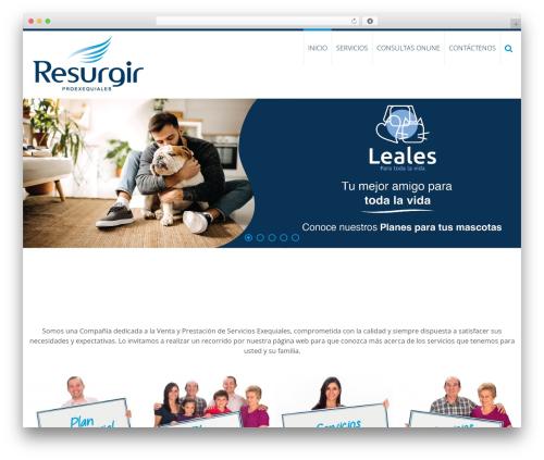 AccessPress Ray WordPress website template - proexequialesresurgir.com