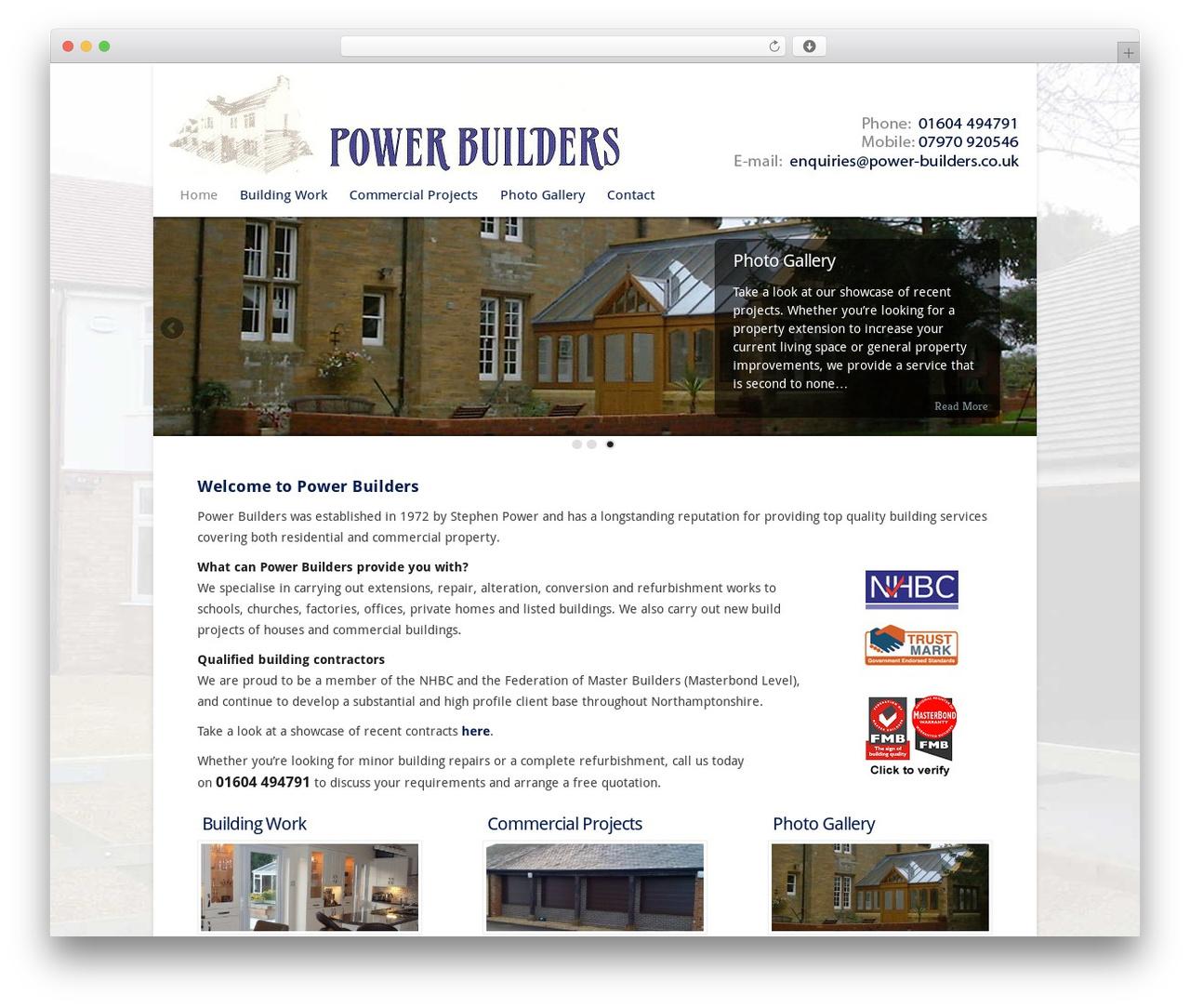 Chameleon WP theme - power-builders.co.uk