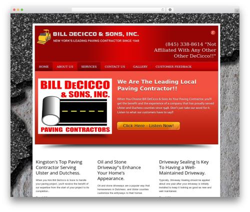 Local Business Pro Responsive Theme WordPress theme design - pavingcontractorsny.com