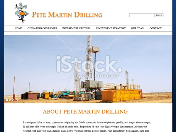 Pete Martin Drilling premium WordPress theme
