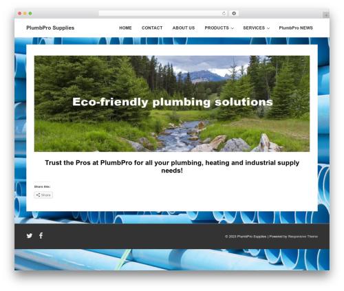 Responsive free WordPress theme - plumbpro.ca