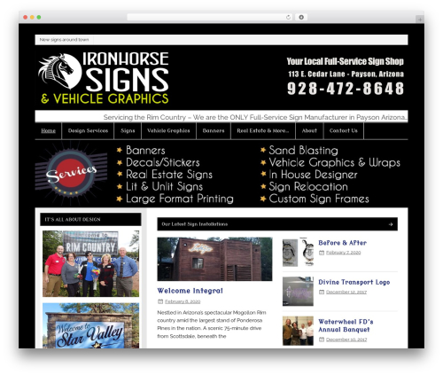 Smartline WordPress theme - paysonsigns.com