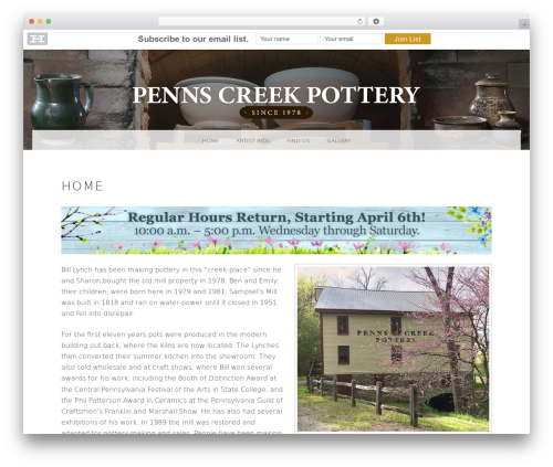 Template WordPress Snaps - pennscreekpottery.com