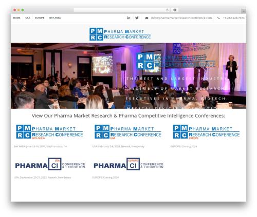 The Keynote medical WordPress theme - pharmamarketresearchconference.com