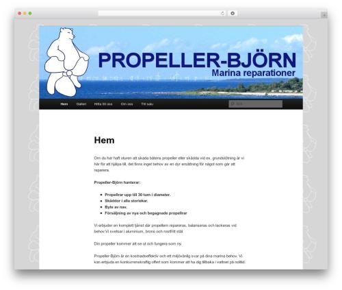 Twenty Eleven top WordPress theme - propellerbjorn.se