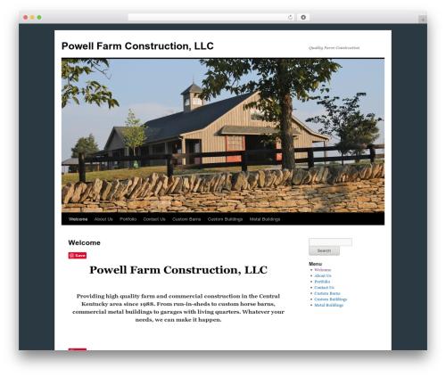 Twenty Ten WordPress page template - powellfarmconstruction.com