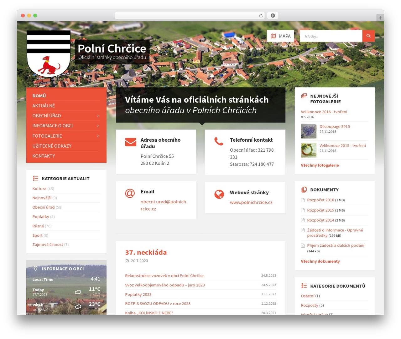 WordPress theme TownPress - polnichrcice.cz