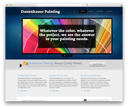 Envision Child theme WordPress - dauenhauerpainting.com