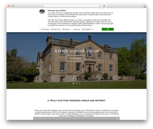 Jupiter premium WordPress theme - dalveyhouse.com