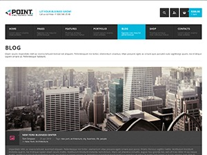 Point Multipurpose Retina WP Theme company WordPress theme