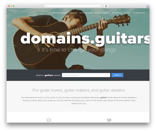 Uniregistry WP theme - domains.guitars