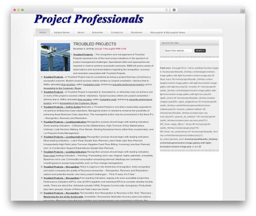 WordPress theme Platinum - projectprofessionals.org