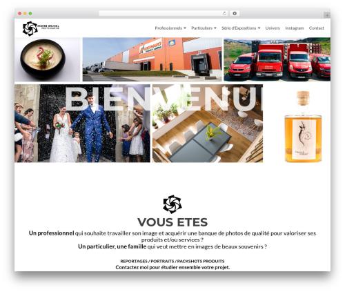Zerif Lite WordPress theme - pierrebrunel.fr