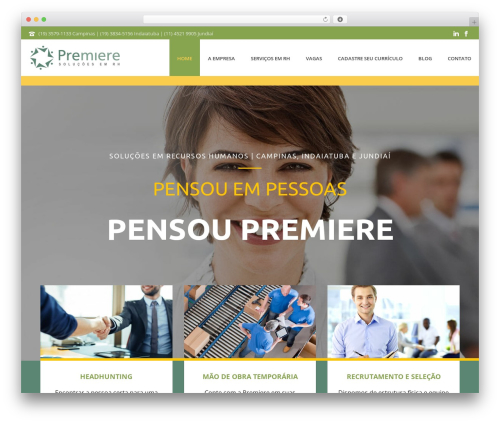 Best WordPress template Jupiter - premiereempregos.com.br