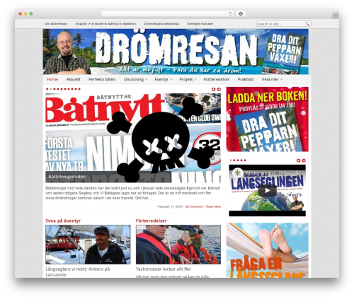 Blognews WordPress news template - dromresan.com