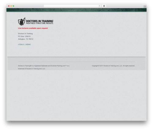 Emporium WordPress theme - doctorsintraining.com