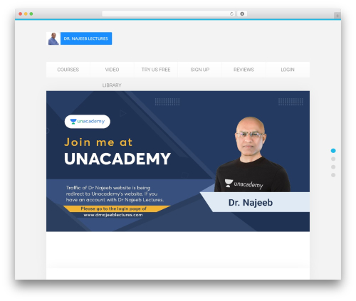 Template WordPress Unity - drnajeeblectures.com