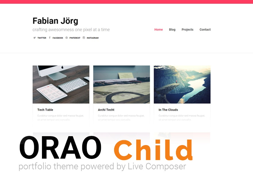 Theme WordPress Orao Child
