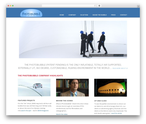WordPress template Glisseo - Responsive Multipurpose WordPress Theme - photobubblecompany.com