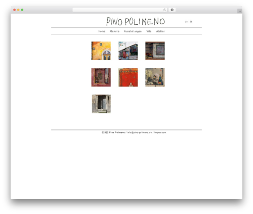 WordPress theme BLANK Theme - pino-polimeno.de