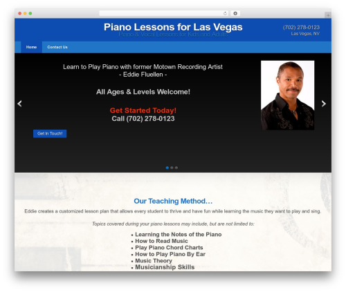 WordPress theme Impacto - pianolessonslv.com