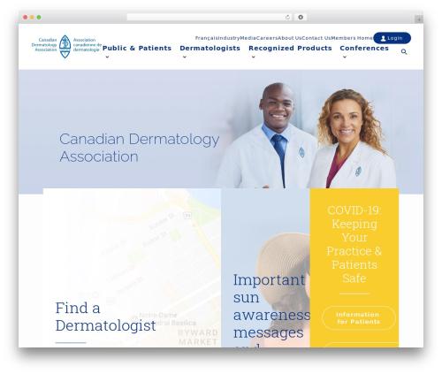 WordPress website template Uncode - dermatology.ca