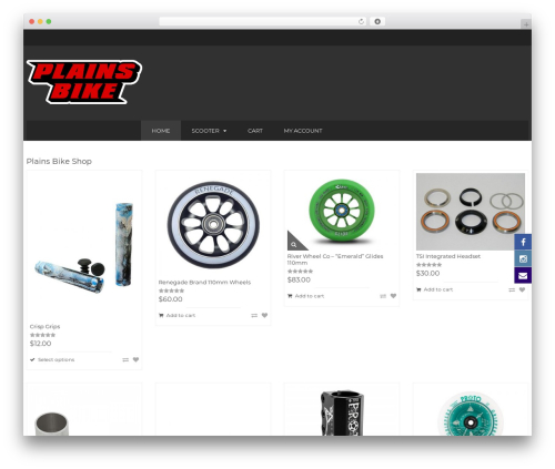 BigBoom WordPress theme - plainsbikeshop.com