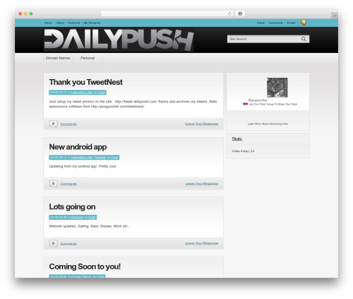 Convergence premium WordPress theme - dailypush.com
