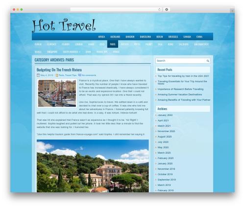 EducationBlog WordPress blog theme - paris.hot-travel.org